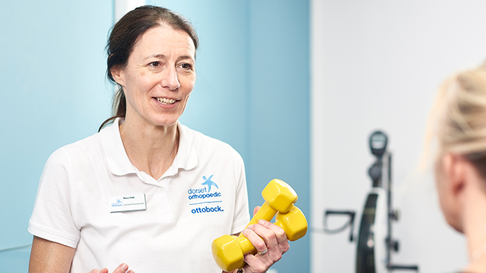Physiotherapist Mary Tebb